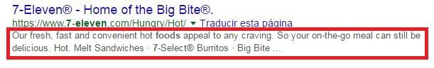 e-Commerce meta-description