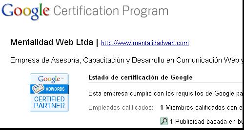 Google AdWords Mentalidad Web